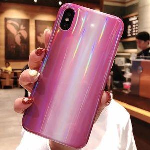 NEW iPhone X/XS Purple Marble Laser Case